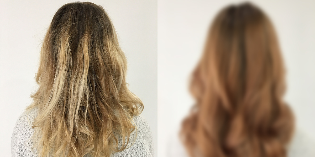Hair transformation: Beige blonde with a touch of copper