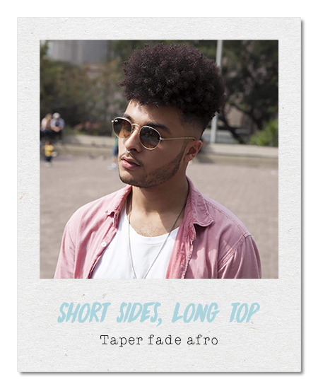 Taper fade afro