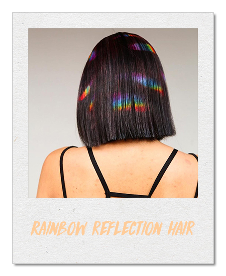 Rainbow reflection hair