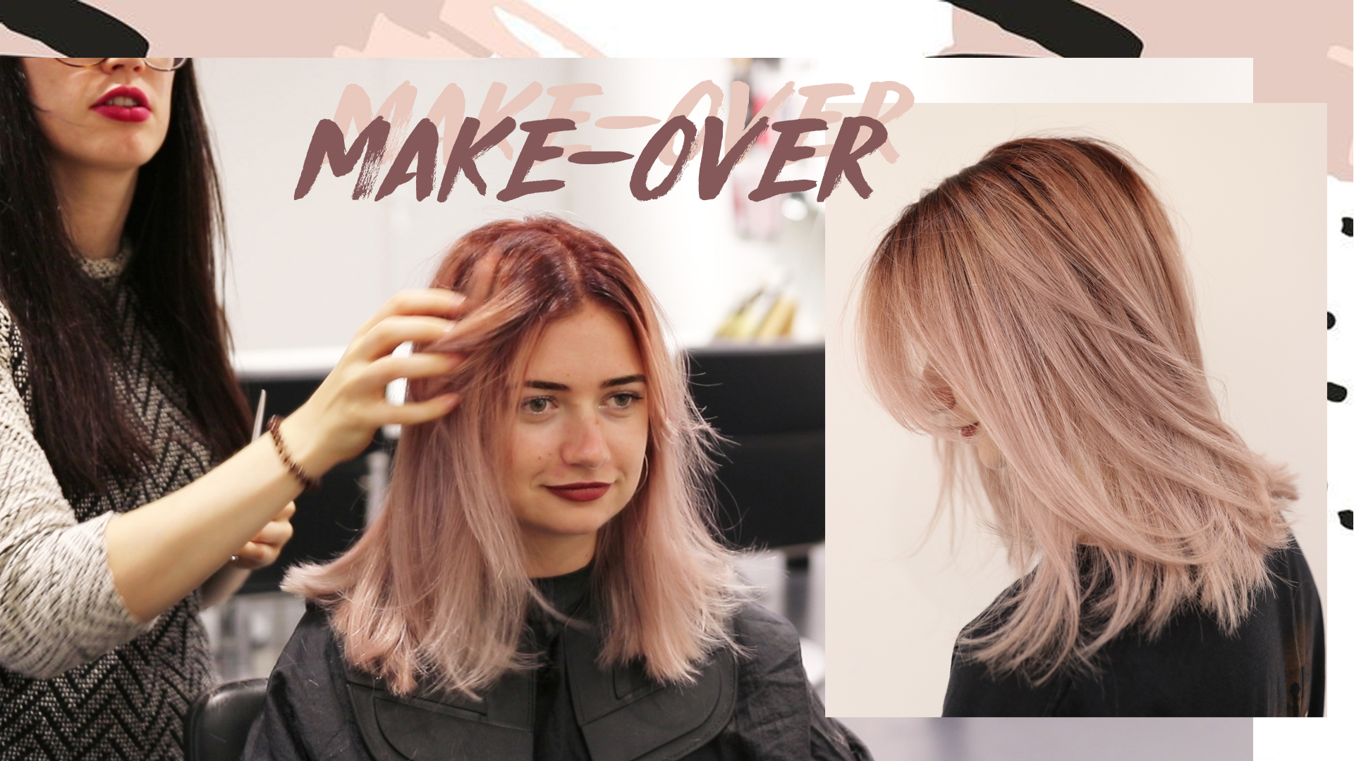 Make-over: Rose gold reverse balayage