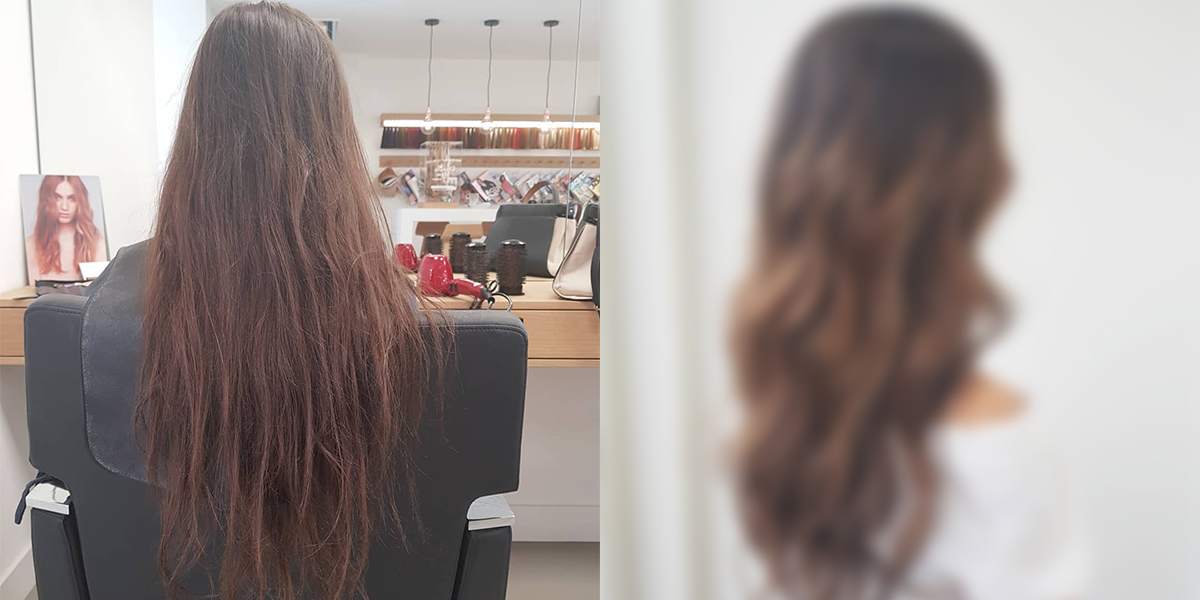 Hair transformation: Virgin balayage