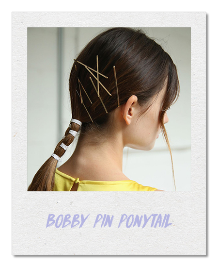 Bobby pin ponytail