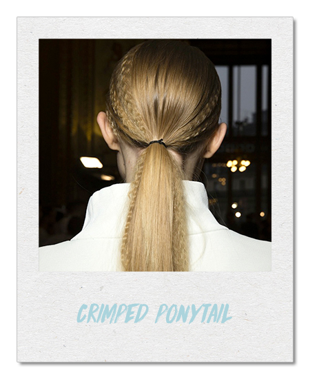Crimped ponytail