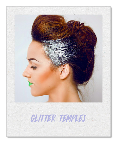 Glitter temples