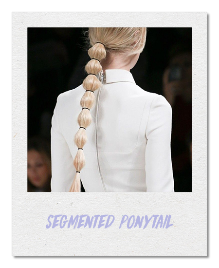 Segmented ponytail