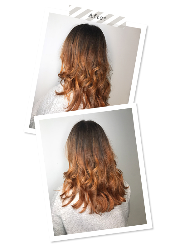 Hair transformation: From blonde to copper