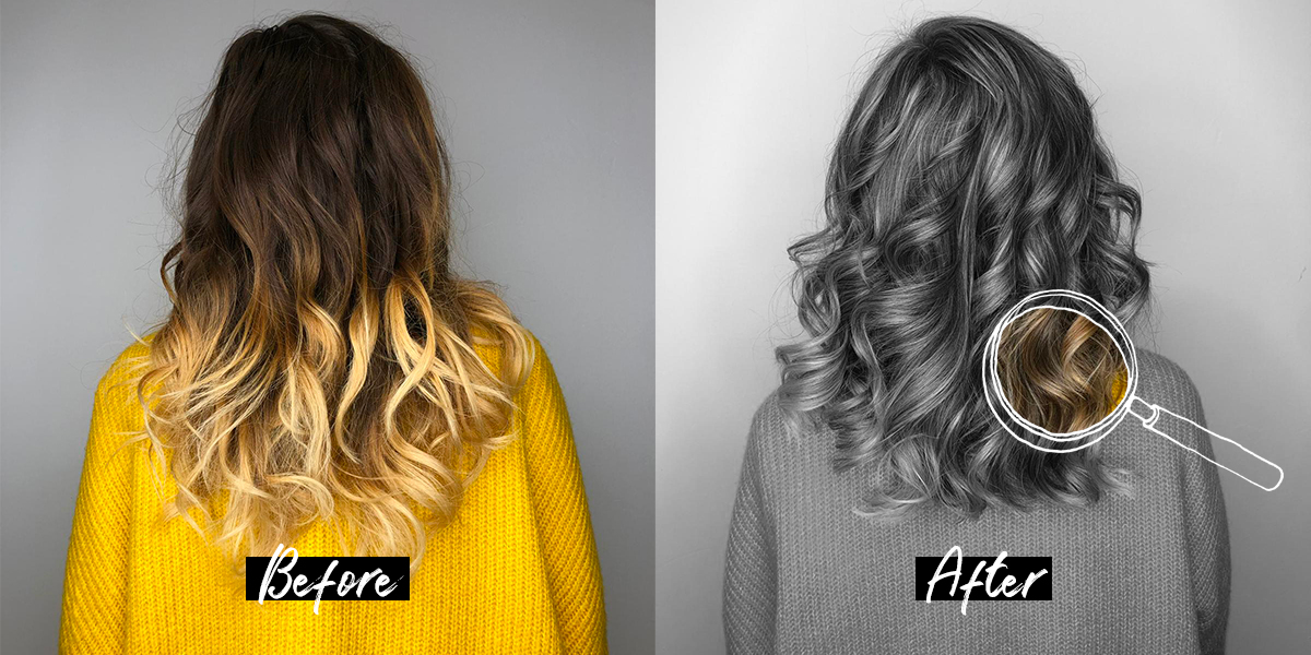 Hair transformation: Sunkissed ash brown
