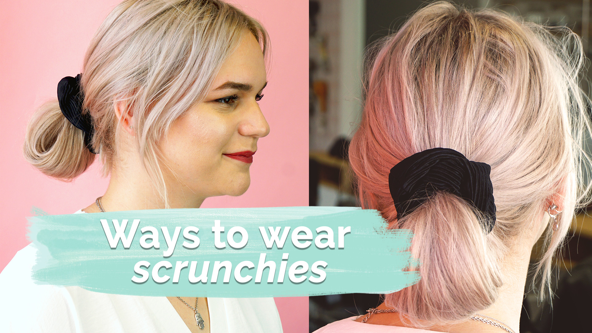 3 ways to wear scrunchies